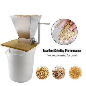 Image 5 - ステンレス鋼 2 ローラー麦芽ミルクラッシャーホーム醸造穀物クラッシャーマニュアル調整可能な大麦グラインダー木製ベース