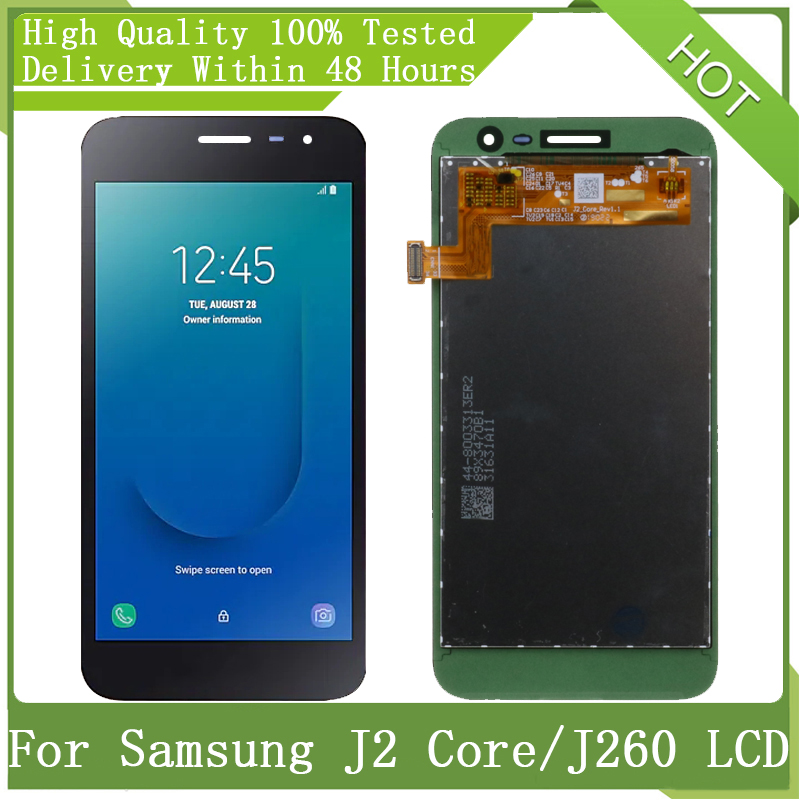 """For Samsung Galaxy 5"""" New Amoled J2 Core J260 J260M J260F J260G LCD Display Touch Screen Digitizer Assembly Parts+Service Pack"""