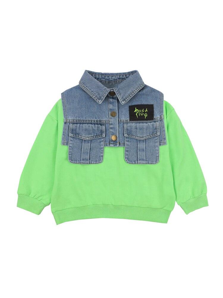 Boys Western Style Sweater Children Tops Tide Paragraph Children Baby 2020 Spring New  Boy Korean Version of Spring 5