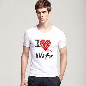 Plus Size T-shirt Men's, Tops Clothes Tees, I Love My Wife Tshirt, New Fashion Brand, Custom Shirts Hip Hop, T-shirt Streetwear White 1