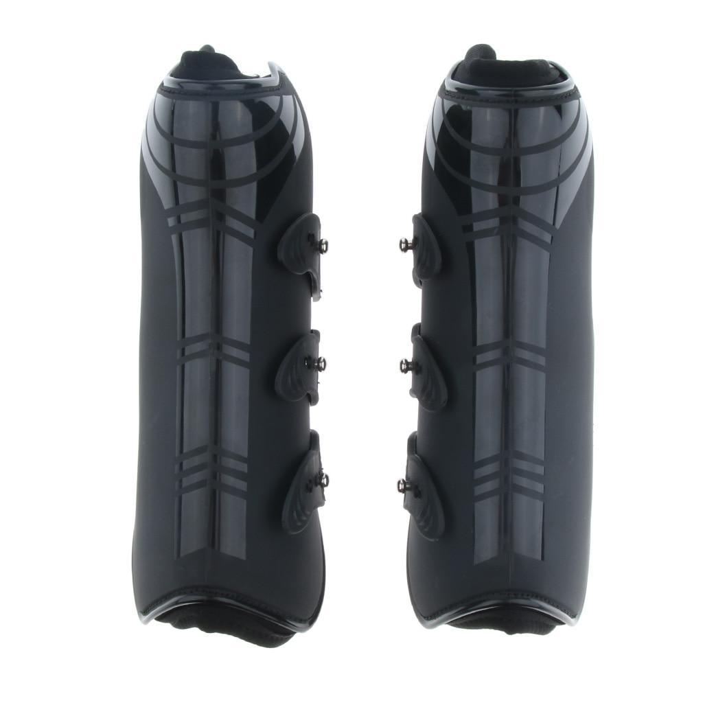 1 Pair Horse Leg Boots Hind Front Leg Tendon Protect Wraps Wear