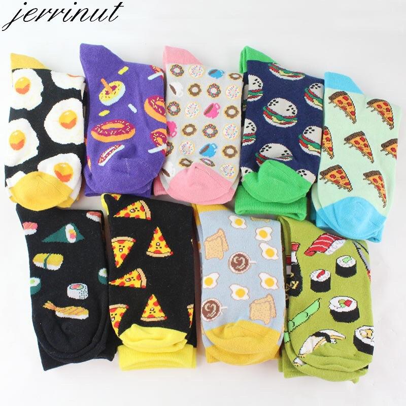 Women Happy Funny Socks With Print Art Cute Warm Winter Socks With Avocado Sushi Food Cotton Fashion Harajuku Unisex Sock 1 Pair