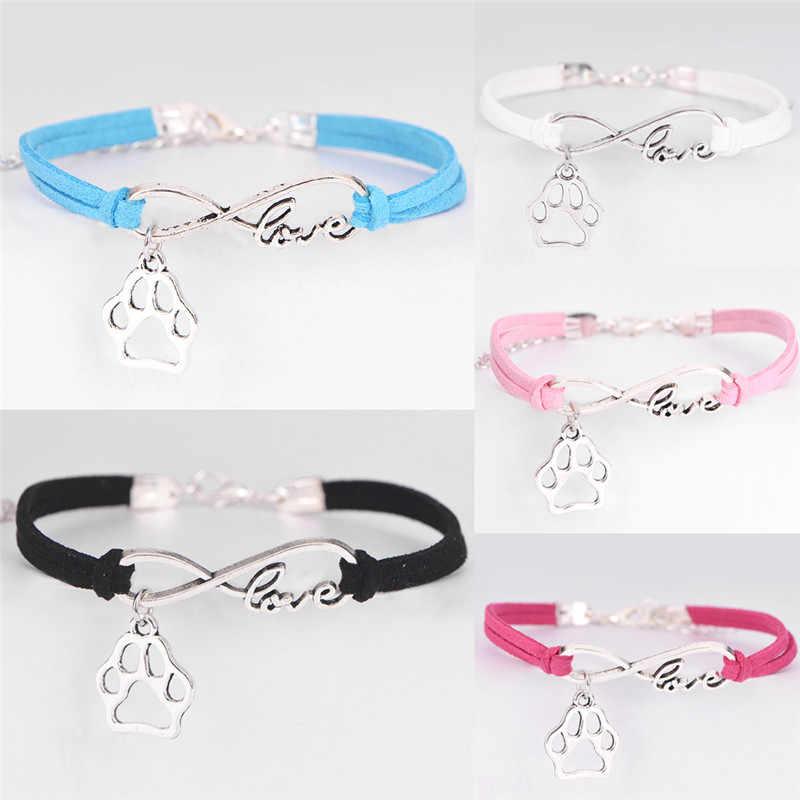 אופנה קסם חיות מחמד כלב מאהב חתול בעלי החיים דוב Paw צמיד אינפיניטי Bracele מכירה לוהטת