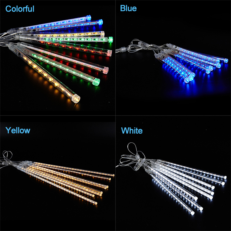 Image 4 - 8 Tube Christmas Fairy Lights Led String Lights Meteor Shower Rain Light Outdoor Decoration Street Garland Halloween Party Lamp-in LED String from Lights & Lighting on