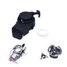 Aluminum Alloy Pull Starter,  Carburetor,  Clutch Fit For 47cc 49cc 2 Stoke Engine  Mini Dirt Pocket Pit Bike Moto ATV Quad
