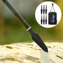 6 PCS 6.2mm Arrowhead Sharp Retro Arrow Head Arrow Tips Archery Broadhead for Man