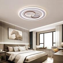 Modern led Ceiling chandelier light for bedroom living room plafonnier iron+acrylic Surface mount lighting