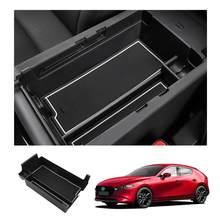 LFOTPP – boîte de rangement pour accoudoir Central de voiture, en caoutchouc antidérapant, anti-poussière, accessoires de rangement d'intérieur pour Mazda 3 4th 2019 2020