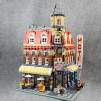 In Magazzino 15002 2133Pcs Clone Strada di Città Make Cafe Angolo Modello Corredi di Costruzione di Blocchi di Mattoni Giocattolo Per Bambini Regalo 10182