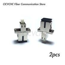 2pcs SC/UPC(Female)-LC/UPC(Female) Single-mode Fiber Optic Adaptor-Hybrid Mating Adapter