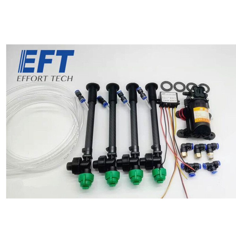 EFT Spray System with Pressure Nozzles, Water Pump, Governor, Step-down Module, Water Pump for Plant Protection Drone