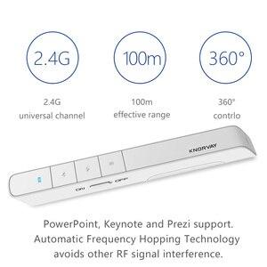 Image 4 - Knorvay N36 2.4GHz אלחוטי מגיש עט USB שלט רחוק Powerpoint מגיש מצגת Clicker PPT מצביע לייזר עט