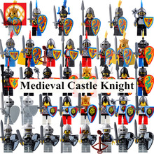 Single Medieval Castle Knight Shadow Bat Kingdom Soldier Army with Weapon Shield Helmet Spear Bricks Model Building Blocks Toys for Children(China)