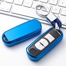 цена на Car Key Cover Protection Case For Mazda 6 323 626 3 2014 2015 Cx-5 Cx-7 Cx-9 Car Styling Remote TPU Shell Auto Accessorise