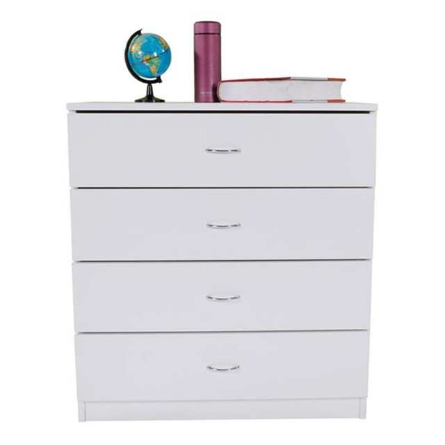 4-Drawer Wood White Dresser  5
