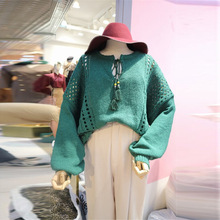 2019 Autumn New-style Sweaters Women Sasses Lace-up Empty-head O-Neck Pullovers Sweater