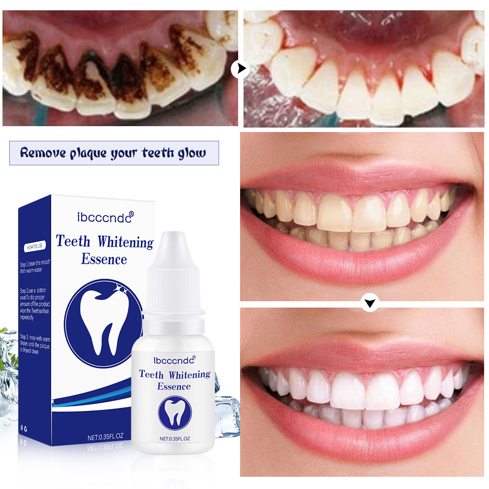 Brand 10ml Teeth Whitening Essence Oral Hygiene Cleaning Serum Remove Plaque Stains Tooth Bleaching Liquid Dental Oral Care