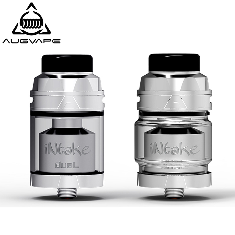 Augvape Intake RTA Atomizer Dual Coil Deck 26mm 4.2ml 5.8ml Leekproof Top Airflow Postless Deck Electronic Cigarette RTA Tank