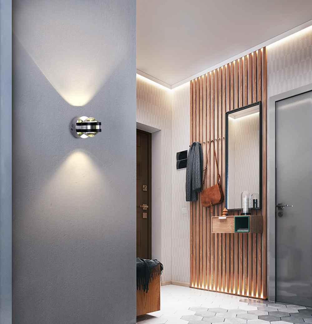 LED Wall Light 6W Crystal Sconce Mounted  Bathroom Bed room Lighting Modern Lamp