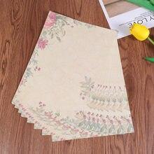 50 stücke Europäischen Stil Papier Retro Schreiben Papier Vintage Brief Papier Romantische Schreibwaren