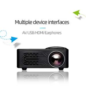 Projector-Supports Mobile-Phone-Connection-Projector Micro Mini Portable 1080P Home Hd