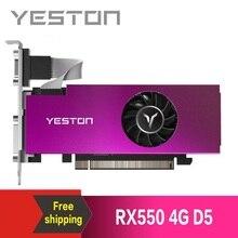Yeston Radeon RX550 4GB GDDR5 PCI Express 3.0 DirectX12 فتحة واحدة بطاقة جرافيكس VGA + HDMI + DVI D بطاقة جرافيكس لسطح المكتب