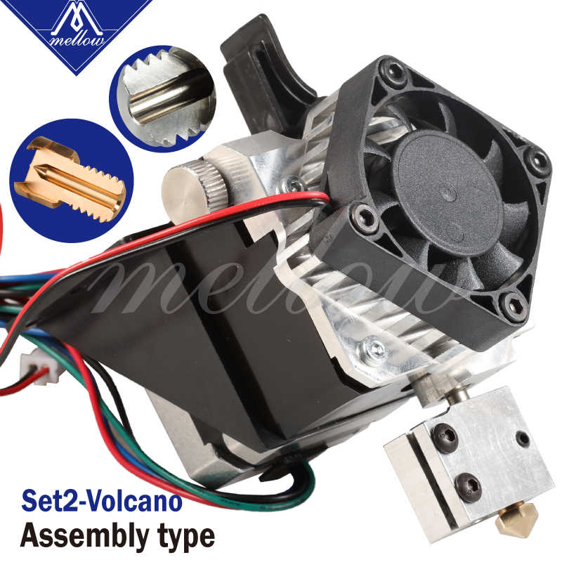 Livraison gratuite imprimante 3D pièces Titan Aero V6 hotend extrudeuse kit complet/volcan buse kit pour bureau reprap mk8 i3 TEVO ANET