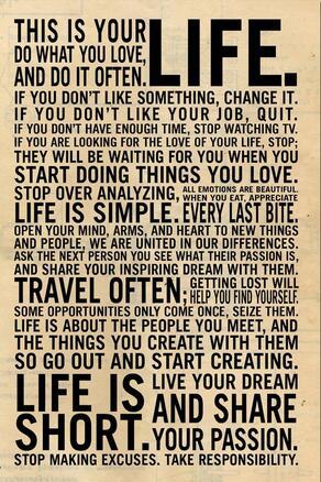 Больше стилей на выбор, это ваша жизнь-мотивирующая цитата, Художественная печать, Шелковый постер, домашний Настенный декор 24x36 дюймов