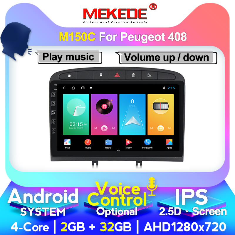 MEKEDE For PEUGEOT 308 408 2010-2016 Car Radio Multimedia Video Player Navigation GPS  4+64G DSP IPS