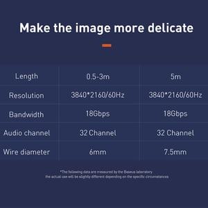 Image 2 - Baseus 4K HDMI כדי 4K HDMI כבל אותו מסך HD המרת כבל מתאם אודיו וידאו סיין פלט כבל עבור הקרנת HD טלוויזיה