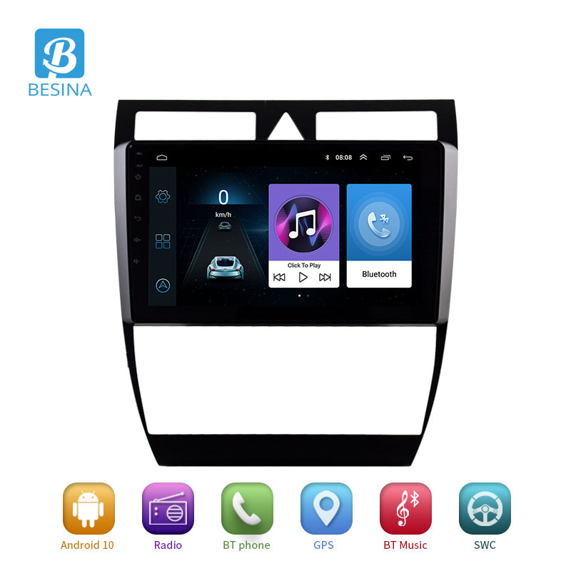 Besina <font><b>2</b></font> <font><b>Din</b></font> Car <font><b>Radio</b></font> <font><b>Android</b></font> 10.0 Car DVD Player For Audi A6 S6 RS6 Allroad Multimedia <font><b>GPS</b></font> Navigation Stereo WIFI Headunit RDS image