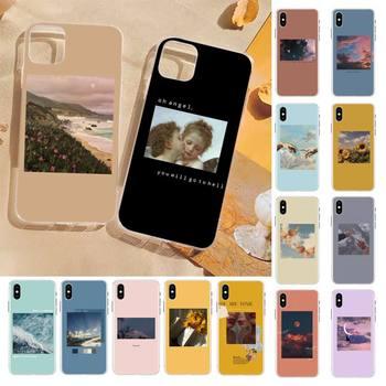 FHNBLJ gran estética arte teléfono caso para iPhone 8 7 6 6S Plus X 5S SE 2020 XR 11 12 pro XS.