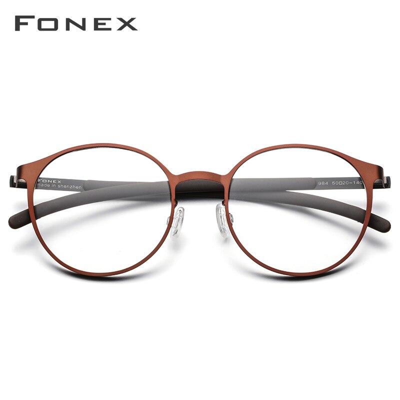 FONEX Screwless Eyewear Eyeglasses-Frame Prescription-Glasses Optical Myopia Full-Rim