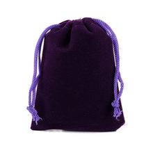50pcs 20x30cm Large Velvet Bag Drawstring Gift Bag Pouches Can Custom Logo Drawable Jewelry Packaging Bags(China)