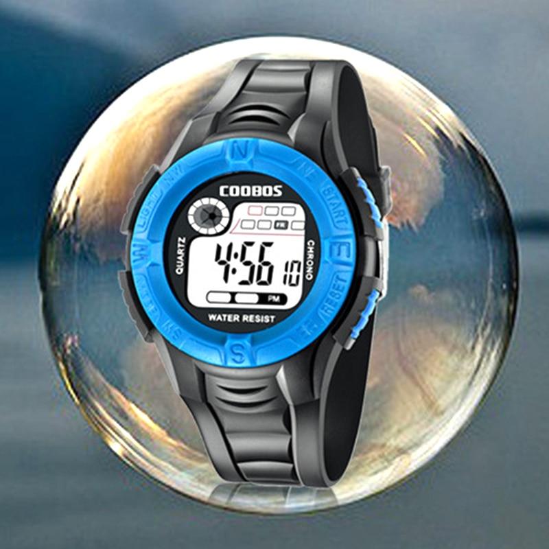 Kid Watch Children Waterproof Outdoor Sports Boys Digital Clock Unisex Multifunction Date Baby Girl Wristwatch Week Display 2019