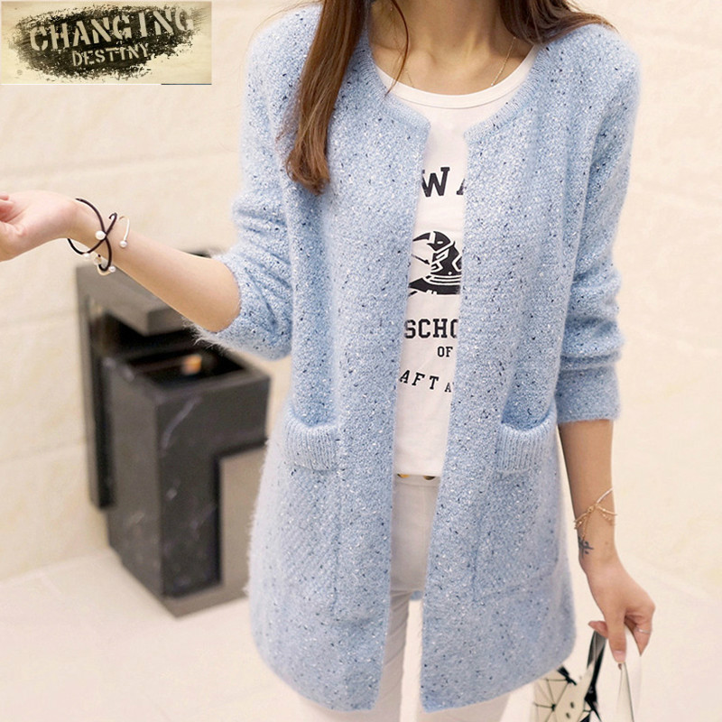 Spring Autumn Long Cardigan Female Long Sleeve Crochet Cardigan Women Sweater Women Knitted Jacket Tops Sweater Women