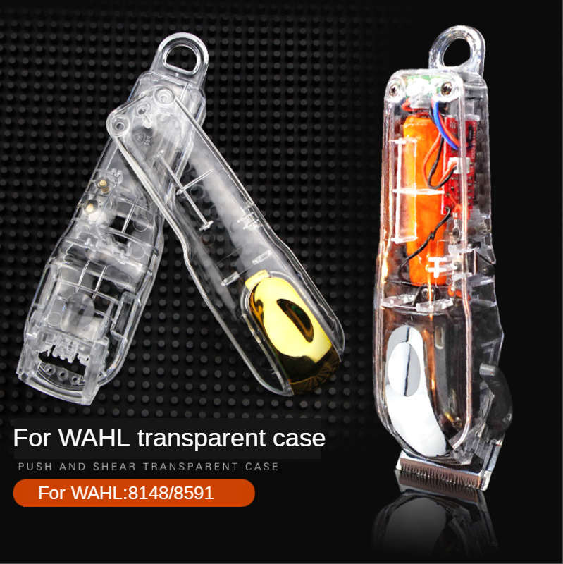 Transparent Electric Hair Clipper Cover Shop Trimmer Hairdressing Cutting Barber Barber Accessories For WAHL 8148/8591 G0313