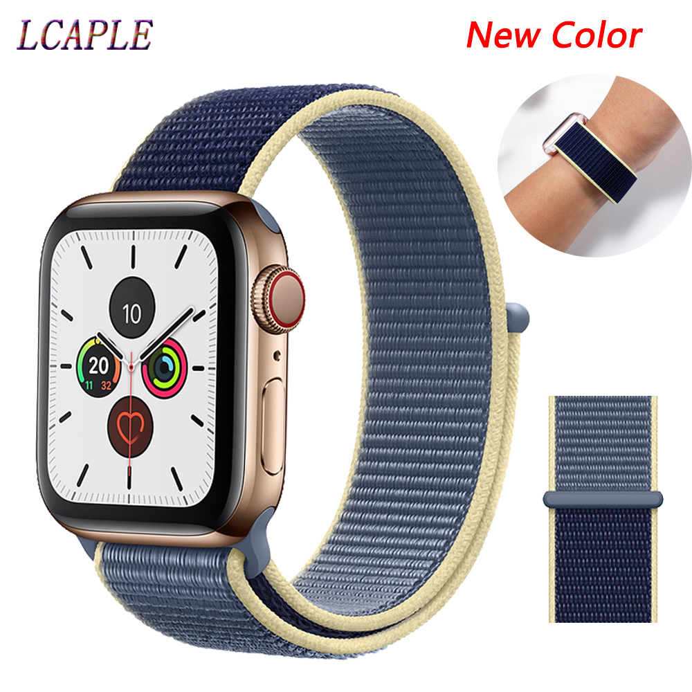 Nylon Strap For Apple Watch 5 Band 44 Mm 40mm Breathable Belt Bracelet Correa Pulseira Apple Watch 5 3 4 2 Iwatch Band 42mm 38mm