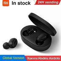 En Stock Xiaomi Redmi Airdots 5,0 TWS auricular Bluetooth inalámbrico verdadero DSP Cancelación de ruido con caja de carga