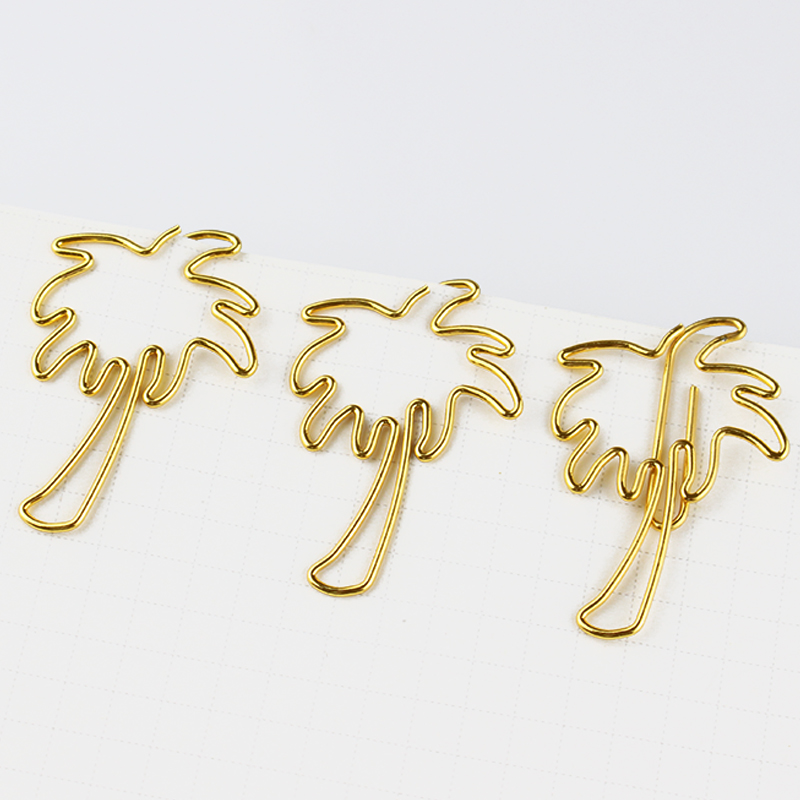 Spring New Coconut Tree Shaped Paper Clips Cartoon Paper Clip Office Paper Clips Office Accessories Clips Papeleria Paperclips