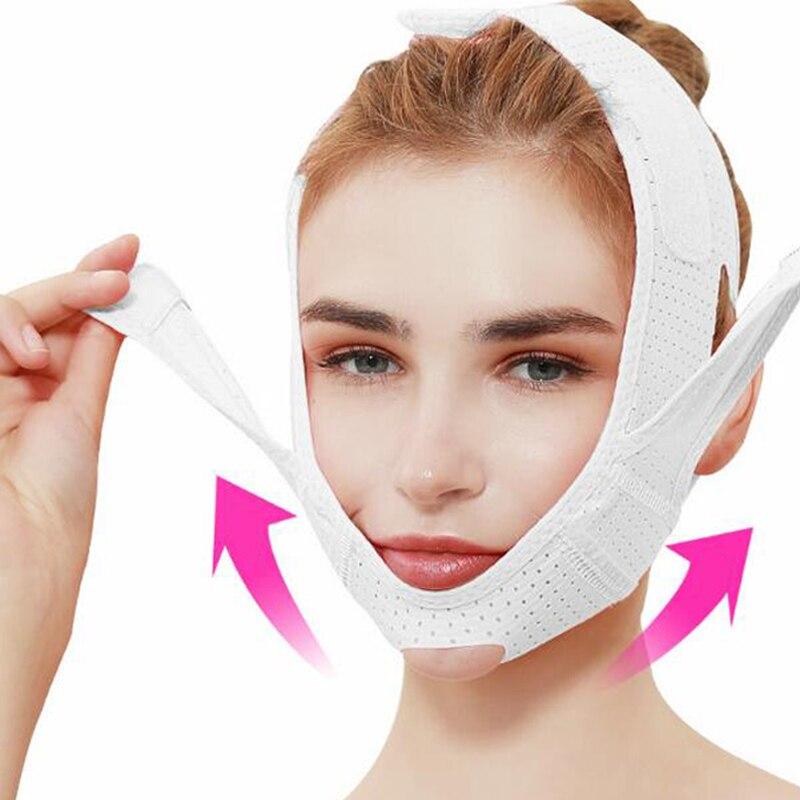 Breathable V Face Cheek Lift Up Band Face Thin Mask Reduce Double Chin V-Line Shaping Bandage Anti Wrinkle Face Bandage