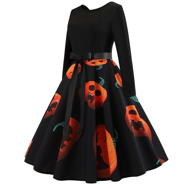 Halloween Pumpkin Dress Size S to 2XL 2