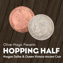 Hopping morgan truques mágicos moedas aparecendo desaparecer magia mágico fechar-se truque ilusão prop mentalismo engraçado