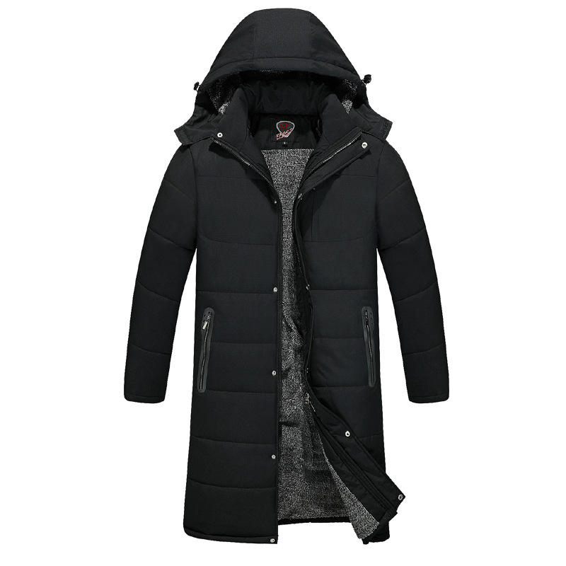 Sports Cotton-padded Clothes Dad Winter Coat Middle-aged Men's Plus Velvet Thick Middle-aged Cotton-padded Clothes