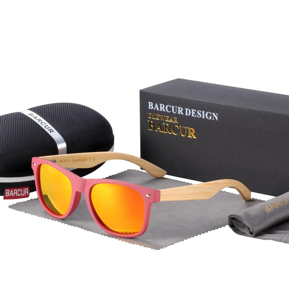 Солнцезащитные очки BARCUR, поляризационные деревянные солнцезащитные очки из натурального бамбука для мужчин и женщин