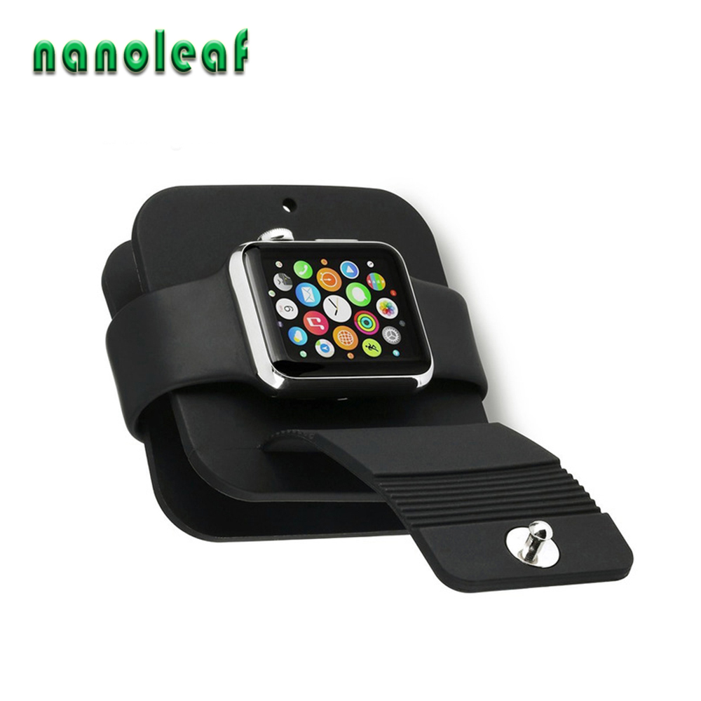 For Apple Watch 3/4/5 Base Silicone Charging Cable Winder Stand Dock Cable Holder Wallet for iwatch Series 38MM/40MM 42MM/44MM