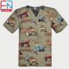 NEW 1908 Hennar Brand men scrub scrub top 100% cotton uniforms
