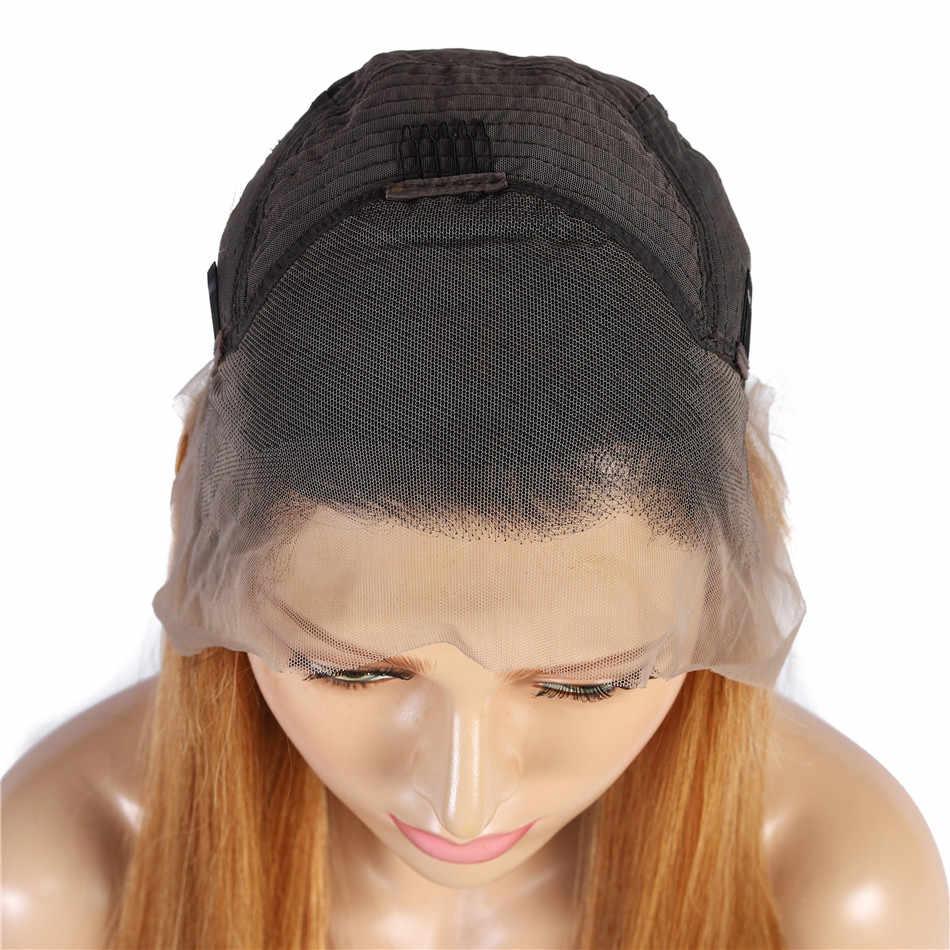 1B 30 Omber Human Haar Pruik Honing Blonde Rechte Kant Voor Menselijk Haar Pruiken Met Baby Haar Maleisische Remy 13X4 Lace Front Pruiken