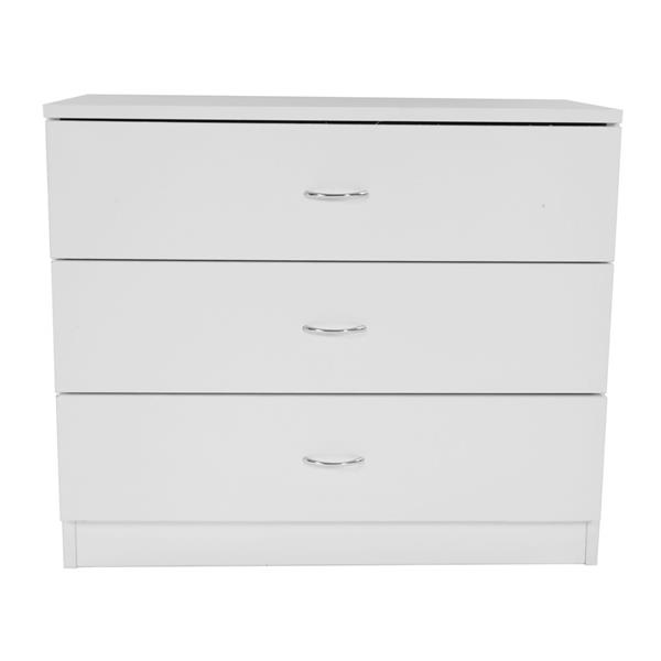 MDF Wood Simple 3-Drawer Dresse Nightstand White ,  Made Of High Quality Material,night Stand,  Dresser, Bedroom Furniture.