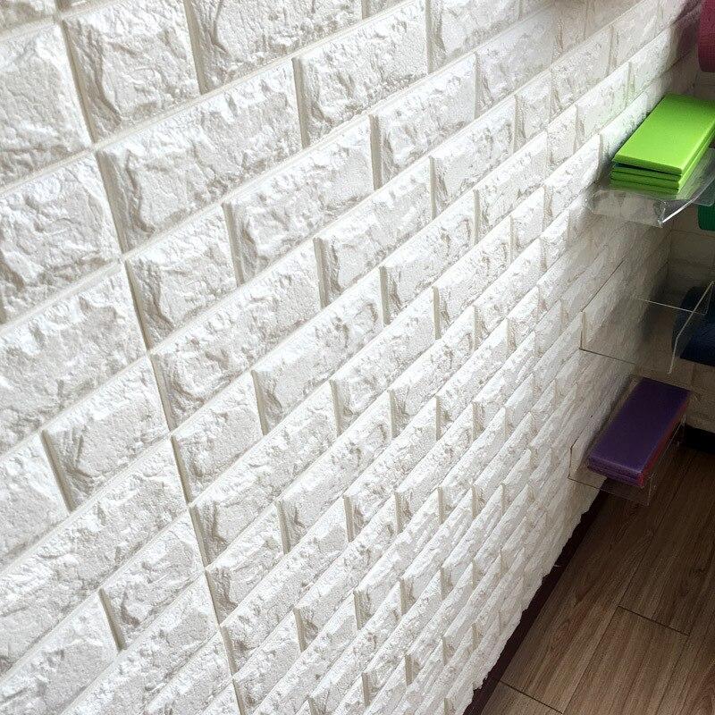 3D pegatinas de pared de ladrillo decoración de papel tapiz de pared impermeable de espuma para niños sala de estar DIY fondo